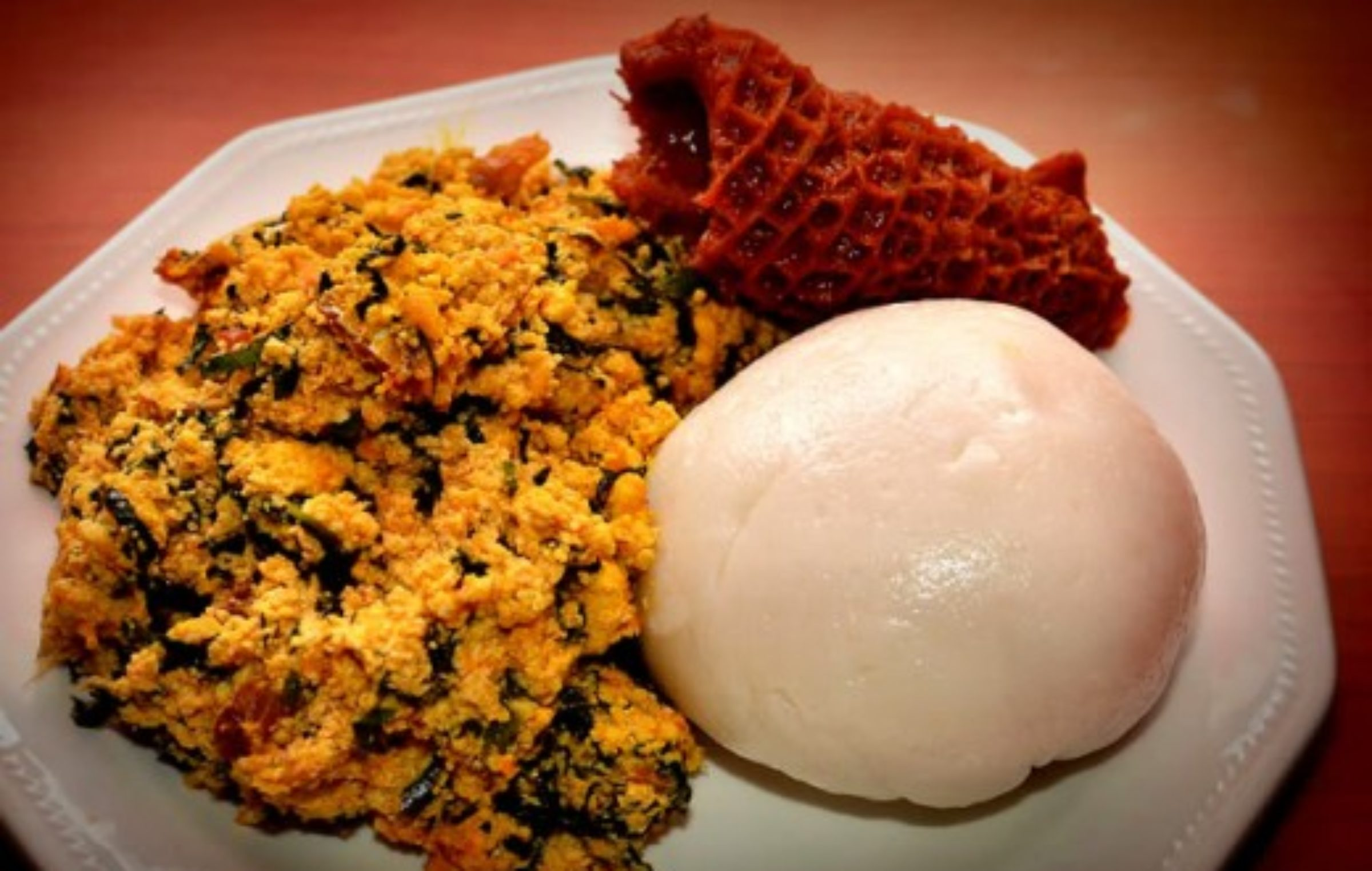 Egusi Soup And Pounded Yam Nigerian Cuisine Stock Photo More Pictures of pounded yam and egusi soup